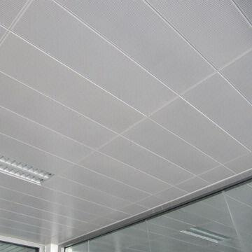 Quality Fire-proof Ceiling Tiles with Aluminum Material, 0.5 to 1.2mm Thickness  for sale