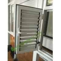 China Adjustable aluminum shutter, louver blade shutter window / aluminum louver shutter design wholesale
