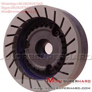 China Glass resin grinding wheel is used in straight edge machine and chamfering machine Alisa@moresuperhard.com wholesale