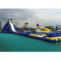 China Amusement Park Huge Inflatable Water Slide 0.55mm Thickness PVC Material on sale