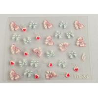 3D nail deco Nail Art Decals Smooth nail surface , PET Coating