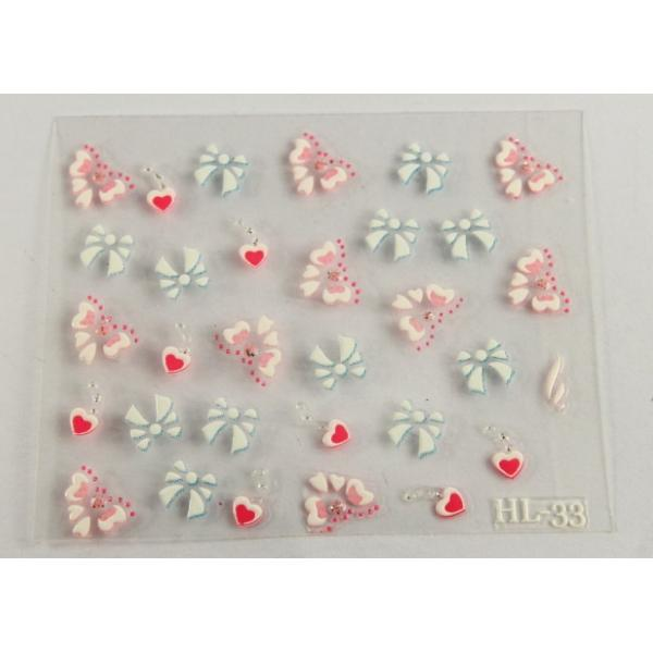 Quality 3D nail deco Nail Art Decals Smooth nail surface , PET Coating for sale