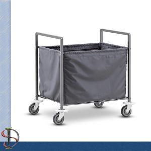 China Folding Laundry Cart / Hotel Chrome Laundry Rack / Heavy-duty Laundry Stand with Laundry bag wholesale