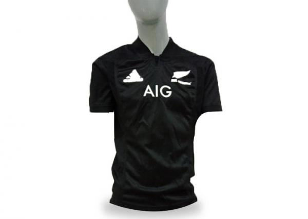 Quality Black Mens Short Sleeve Rugby Shirts , Customized Rugby League Clothing Anti Wrinkle for sale