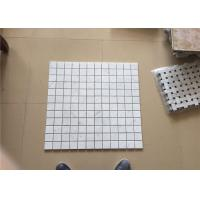 Square Carrara White Marble Mosaic Wall Tiles For Home Decoration