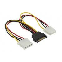 China 12inch SATA Splitter cable 15pin Male to Dual 4pin molex cable wholesale