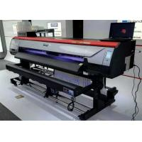 China 1.8m 1440dpi Digital Large Fomat Pring Machine Digital Vinyl Flex Banner Solvent Printer wholesale
