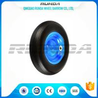 China 4inches Solid PU Foam Wheel, Line Pattern Polyurethane Caster Wheels4.00-8 wholesale