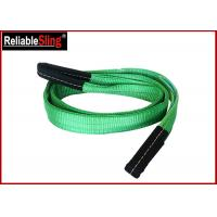 China Green Ply Polyester Webbing Sling For Lifting Loads  , Eye And Eye Sling wholesale