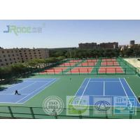China Seamless Acrylic Tennis Court Flooring With Stable Surfacing Materials wholesale
