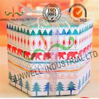 China Personalized Hexagon Cardboard Food Packaging Boxes With Ribbon Bow Decoration wholesale