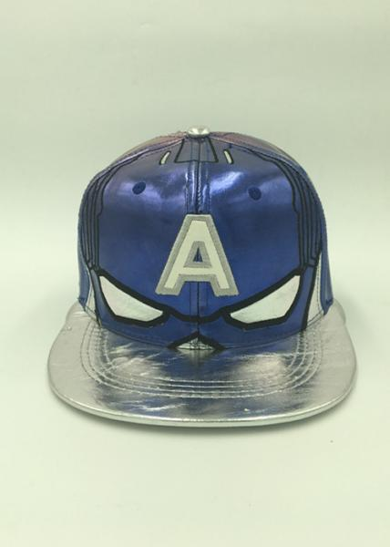 Quality Outdoor Leather Sports Snapback Caps Applique Flat Embroidery Character for sale