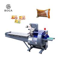China Plastic Film Rotary Flow Pack Wrapper Pack Cake Donuts Bakery Products Packing wholesale