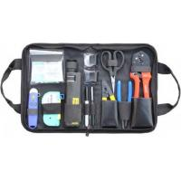 China Variety Convenient Black Fiber Optic Hand Tool Bags / Fiber Termination Kit With Zipper on sale