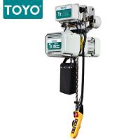 China TOYO KD-1 Aluminum Body Three Phase 380V Electric Chain Hoist Hook Suspension Type wholesale