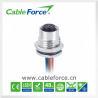 China montaje femenino del frente del conector del soporte del panel del Uno-código 12pin M12 de 30V 1.5A con los alambres del PVC 26AWG wholesale