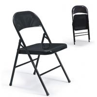 China powder coated foldable steel chair metal folding training room chair furniture Mainstays Steel Chair wholesale