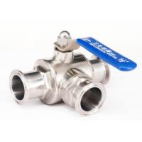 China 2 Inch 3 Stainless Steel Ball Valve L Type With Clamp / Weld / Thread Connection wholesale