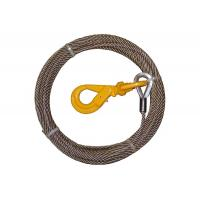 China Steel Core Wire Rope Winch , Steel Winch Cable Self Locking Swivel Hooks wholesale