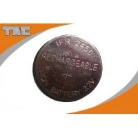 China Rechargeable Lithium Coin Cell Battery LFR2450 80mAh 3.2V on sale