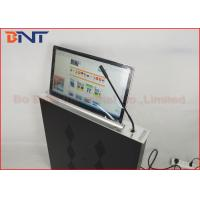 China Slim Conference Tabletop LCD / LED Monitor Motorized Lift With Microphone wholesale