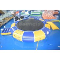China 0.9mm PVC Tarpaulin Inflatable Water Trampoline Combo For Water Sports on sale