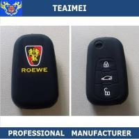 China Fashionable Black Rubber / Silicon Car Key Remote Cover For Roeve wholesale