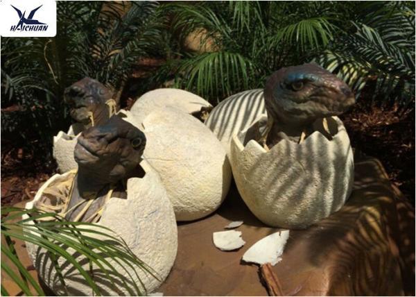 Quality Playground Park Dinosaur Garden Ornaments Hatching Animatronic Dinosaur Egg Decoration for sale