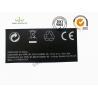 China Задний земной изготовленный на заказ стикер печати логотипа обозначает синтетический бумажный черный цвет wholesale