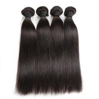 China Double Machine Weft Virgin Human Hair Bundles Long Straight Hair Extensions For Thin Hair wholesale
