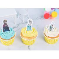 China Rice Wafer Card Edible Wedding Cake Decorations Personalized Frozen Cartoon Characters on sale