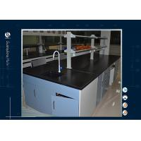 China Black Worktop Computer Lab Furniture Epoxy Resin Table For Cleanroom on sale