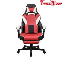 China Custom Reclining Gaming Chair With Wheels , Big And Tall Gaming Chair Adjustable Armrest on sale