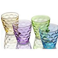 China Stock Rain Drop Vintage Drinking Glasses , 260ml Colored Drinking Glasses wholesale
