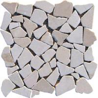 China LIM003 pink crazy paving mosaic marble mosaic floor tile on sale