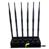 Buy cheap Non Adjustable 6 Bands 15w RF Signal Jammer Blocker Isolator Block 315MHz 433MHz from wholesalers
