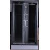 Matt Black Profiles Corner Walk In Shower Enclosures 1200 X 900 Rectangular Grey