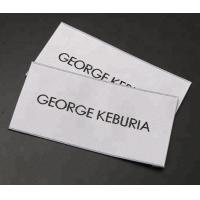 China Heat Cut Personalized Fabric Labels Clothing Tags Sew In For Garment T Shirts wholesale