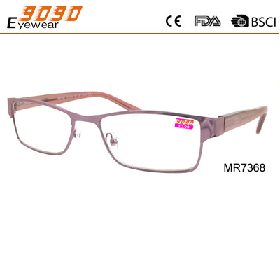 Quality Lady fashionable reading glasses , made of metal, Power rang : 1.00 to 4.00D for sale
