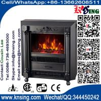 Mobile freestanding electric fireplace heater  fire log flame promotion Roman pillar NDY-18 RC Coal burning stove Heater