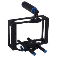 Universal Camera Cage With Top Handle Fits Camera Shoulder Rig 15mm Rods