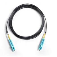 China Drop Cable Corning Optical Fiber Patch Cord LC/UPC To LC/UPC OM3 50/125 Duplex 3Mtrs LSZH on sale