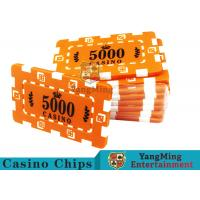Custom Design Cheap Casino Poker Chips , ABS Plastic Numbered Poker Chips for sale