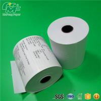 China Dust Free Credit Card Terminal Paper Rolls High Performance Nontoxic Tight Rolling wholesale