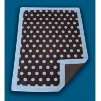 China Giraffe Applique Polyester Baby Blanket , Anti - Microbial Newborn Baby Blankets wholesale