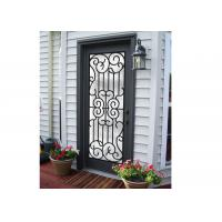 China Professional Wrought Iron And Glass Entry Doors For Building Sound Insulation wholesale