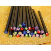 China Gift Promotional Black Wood Pencil With Crystal topper wholesale