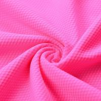 China Athletic Polyester Sports Mesh Fabric Honeycomb Quick Drying Light Resistance wholesale