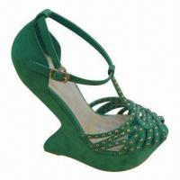 China High-heeled Sandal Shoes in Various Colors, with Microfiber Upper, Suitable for Women