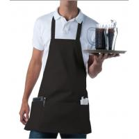 China 100% Cotton Chef Kitchen Aprons With Pockets Quick Dry Wrinkle Resistance wholesale
